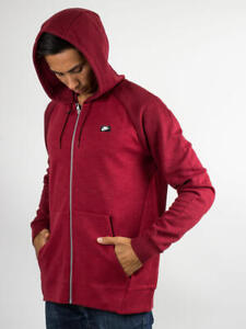 BNWT-New-Mens-Genuine-Nike-Men-039-s-Zipped-Hoodie-in-Red-928475-677-Medium-XL