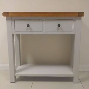 Image Is Loading Painted Oak Console Table Solid Grey Hallway Table