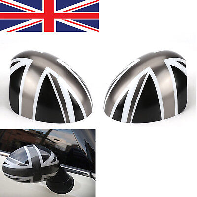 2x New Union Jack Wing Mirror Cover Caps For Mini Cooper