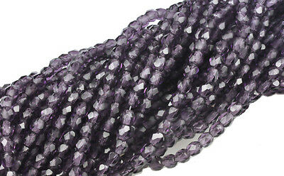 20 Strand Mixed Lot of 3mm Round Czech Glass Fire Polish Beads 1,000 beads