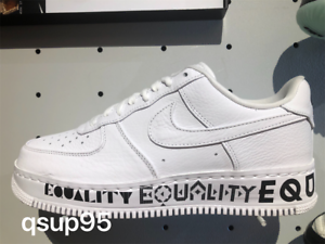 promo code e09ae 464ab Details about Nike Air Force 1 Low Equality AQ2118-100 White Black Size  8-13 New
