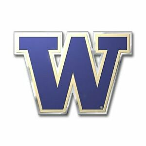 Washington Huskies Color Emblem Sticker Decal Aluminum ...