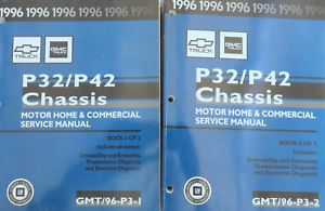 Details about 1996 GM Chevy GMC P32/42 Chassis Service Repair Shop Workshop  Manual Set OEM