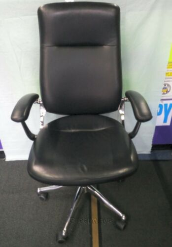 TC St Moritz CH1501 Black Executive Leather Chair