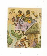 25/109 SAMMELBILD EDEKA WELTBILD ATLAS - AFRIKA LEIBGARDISTEN HÜTTE PFERDE KANO