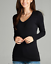 Women-PLUS-Long-Sleeve-V-NECK-T-Shirt-Active-Basic-Cotton-Layering-1XL-2XL-3XL thumbnail 1