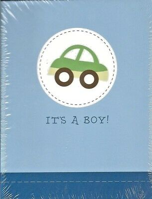 its a boy baby announcements 10 pack cards notes shower new car blue party