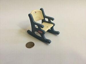 Fine Details About Little Tikes Dollhouse Size Blue White Rocking Chair Vintage Beatyapartments Chair Design Images Beatyapartmentscom