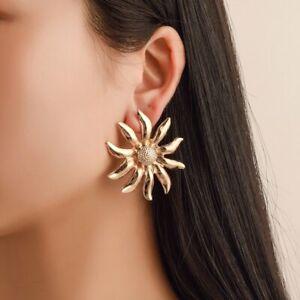 Fashion-Dangle-Drop-Stud-Earrings-Sun-Flowers-Women-Gold-Party-Gift-Jewelry-Hot