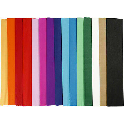 8  x COLOR CREPE PAPER FOR CRAFTS /& GIFT PACKAGING  ASSORTED COLOUR CRAFT