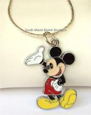 Mickey Mouse Necklace Disney Ears Enamel Pendant 18 inch chain USA Seller