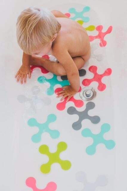 Baby Child Toddler Anti-Microbial Non Slip Bath Mat Bathmat Bath Puzzle Toy New