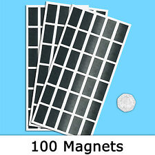 Auto Adhesivo Rectangular Imanes 30x15mm Pack De 100