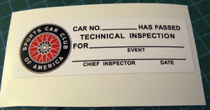 TRANS-AM-TECH-INSPECTION-VINYL-DECAL-STICKER-SCCA-RACING-SVRA-VINTAGE