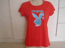 Playboy Red and Blue  T Shirt Size 12 BNWT