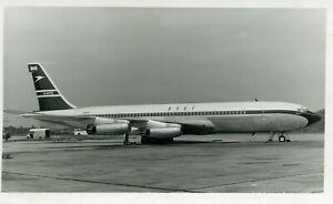 G-APFD Boeing B707 BOAC British Overseas Aircraft Corporation vintage B&W photo