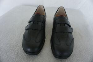 FINN-COMFORT-Mendoza-Schuhe-Klett-mit-Einlagen-Gr-6-5-39-5-schwarz-Leder-NEU