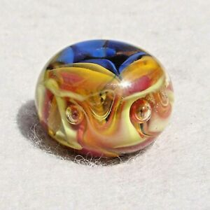 MAELSTROM-Handmade-Art-Glass-Focal-Bead-Flaming-Fools-Lampwork-Art-Glass-SRA