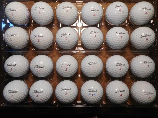 24 Titleist 2019/2020 Pro V1X Mint AAAAA Used Golf Balls