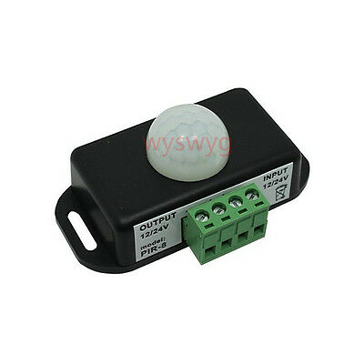 Motion Sensor Switch DC12V-24V 6A Infrared PIR Auto ON OFF For LED/Alarm Speaker