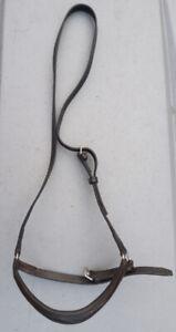 Good quality leather drop noseband black full size
