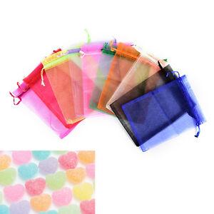 10-x13-18cm-Xmas-Chiffon-Yarn-Drawstring-Bag-Jewelry-Gift-Bags-Pouch-Wedding-NIU