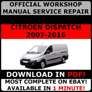 official workshop service repair manual citroen dispatch 2007 2016 rh ebay co uk Jumpy Girl Jumpy Cartoon