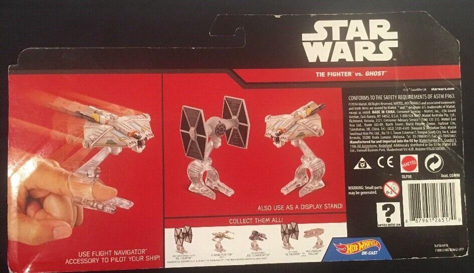 Hot Hot Hot Wheels Star Wars Tie Fighter Vs. Ghost Die-Cast New 2014 66cf93