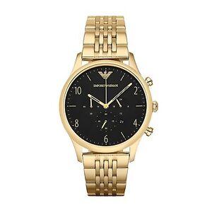 Emporio Armani AR1893 Mens Beta Gold Chronograph Watch -