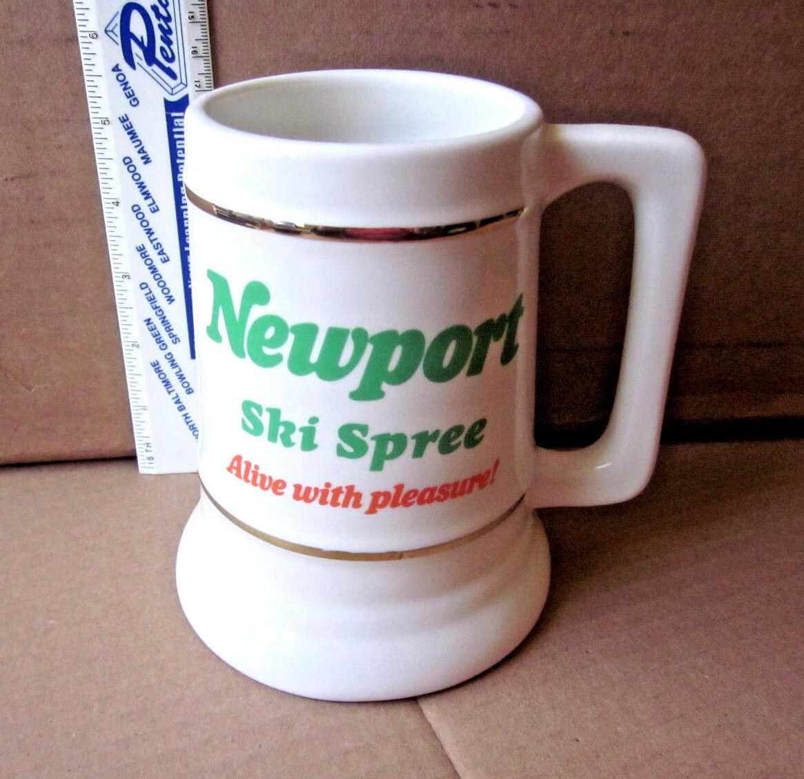 NEWPORT beer stein Ski Spree 1988 menthol cigarettes Dance Contest coffee mug