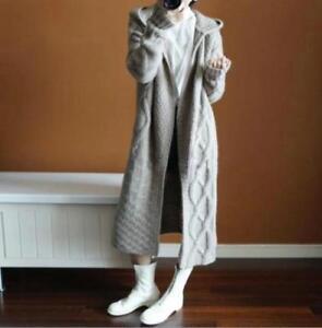 Cardigan-Womens-Knitted-Hoodie-Long-Sweater-Coat-Cashmere-Outwear-Overcoat-Ske15