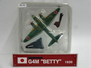 Del-prado-Mitsubishi-G4M-Betty-aviones-de-guerra-escala-1939-1-182-Diecast-pantalla-50