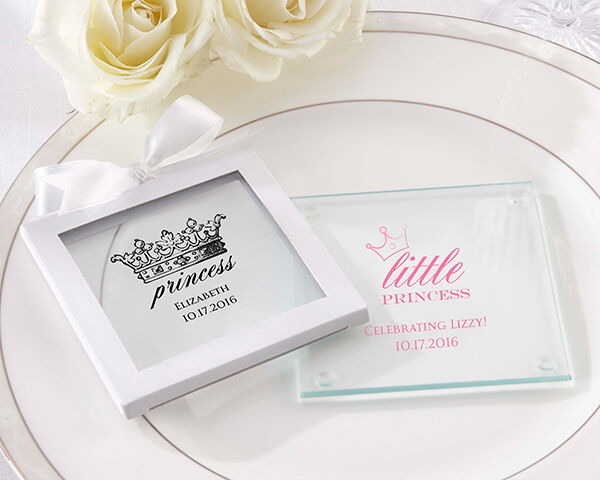 Personalized Princess Crown Coaster Sweet 15 16 Birthday Baby Shower Party Favor