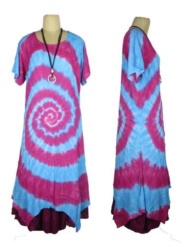 LAGENLOOK VISCOSE OVERSIZED BEAUTIFUL MAXI LONG DRESS SIZE 16 18 20 22 24