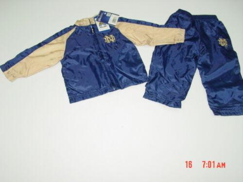 NWT Infant Toddler Boys Notre Dame 2 Piece Windbreaker Set Sport Fan outfit