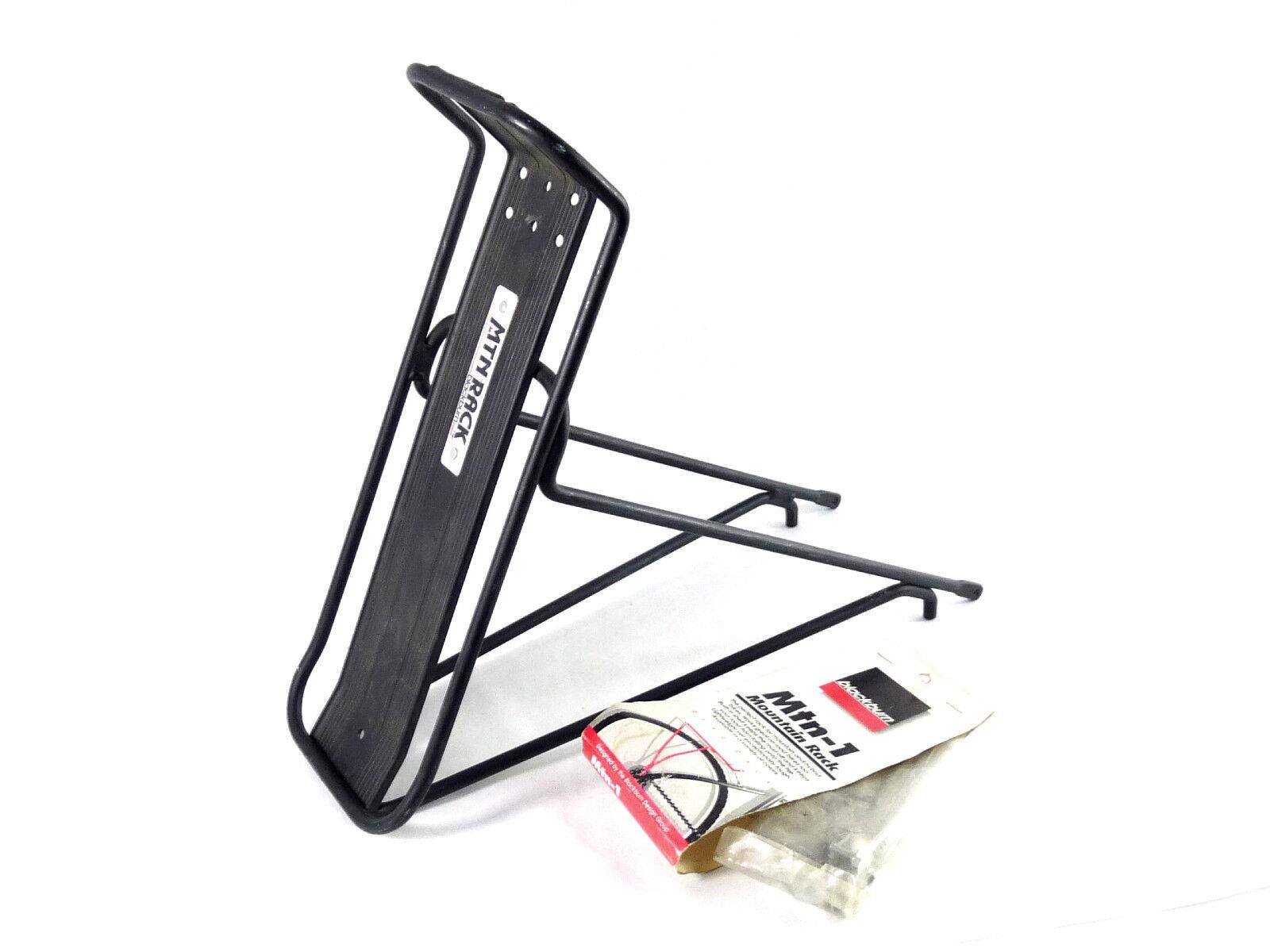 Rack bicicleta de montaña negroburn Mtn-1 Portaequipajes Trasero MTB Nuevo Viejo Stock