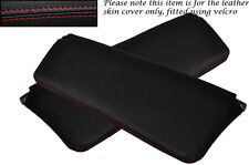 RED STITCHING FITS VOLVO AMAZON 122 122S 120 2X SUN VISORS LEATHER COVERS ONLY