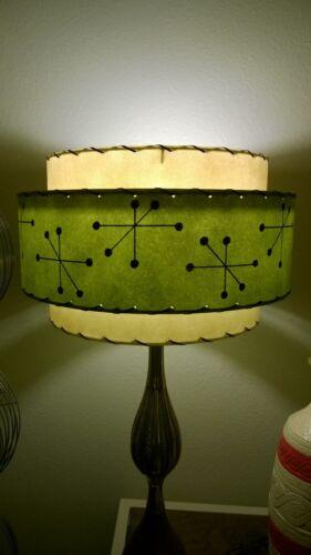 Mid Century Vintage Style 3 Tier Fiberglass Lamp Shade Starburst Atomic  IV//Ol3