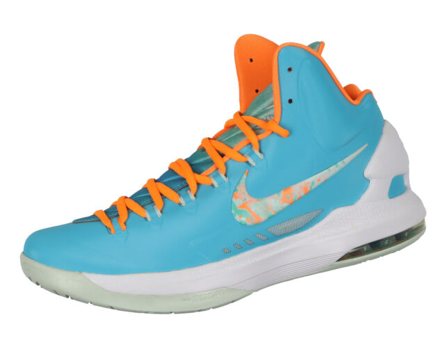 e87d5bac6574 Nike KD V Basketball Shoes Sz 11.5 Easter Edition Turquoise Blue Citrus  Elite 5 for sale online