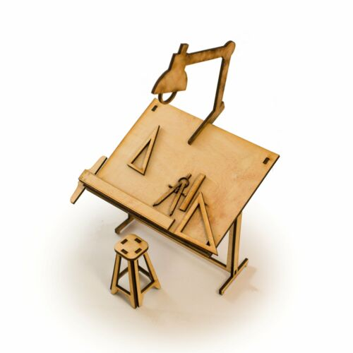 Crafts Raw Wood Art Kit Architect Gift Drafting Table