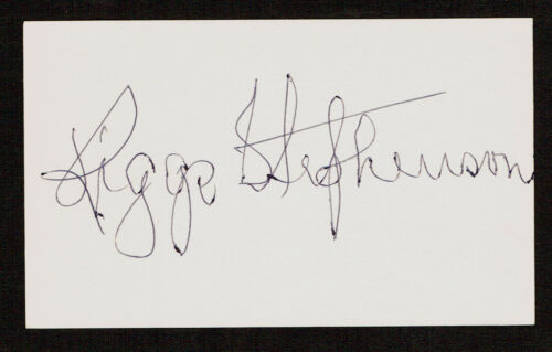 Riggs Stephenson (D.1985) Autographe Signé Baseball 3x5 Index Carte 5055-04