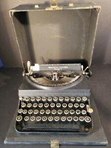1933 Remington Portable  Model 5 typewriter original case Parts or Repairs VTG