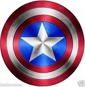 Tortenaufleger-Captain-America-Schild-Avengers-Superheld-DVD-NEU-Tortenbild-Deko
