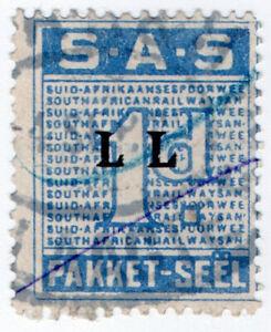 I-B-South-Africa-Railways-Parcel-Stamp-1d-Afrikaans