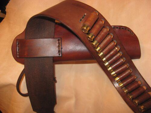 "Western Leather Gun Belt//Holster Hip Rig up to 6-1//2/"" to 7-1//2/"" Barrel Length"