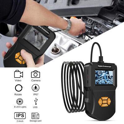 2m IPS LCD Endoskop Kamera für KFZ 7mm Inspektionskamera Wasserdicht IP67