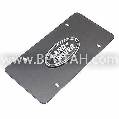 GENUINE  FACTORY LAND ROVER LOGO LICENSE PLATE MATTE BLACK OEM LR007529