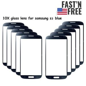 Lot-of-10-Outer-Glass-Lens-for-Samsung-Galaxy-S3-i9300-i535-i747-T999-L710-Blue