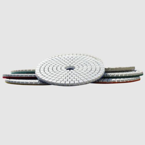 "Concrete Polishing Pads 5/"" Wet Dry Concrete Sanding Discs Set Concrete Polishing"