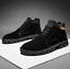 Mens Chukka Ankle Boots PU Leather Lace Up High Top Shoes Walking Casual Shoes